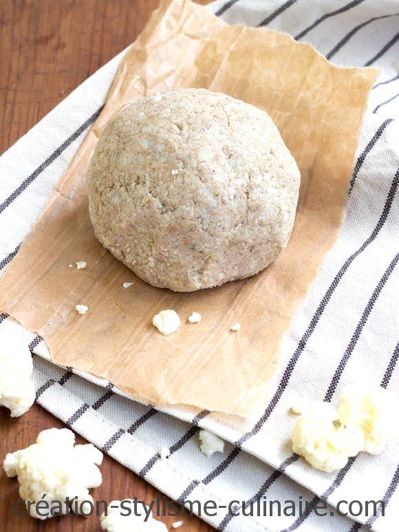 pâte à tarte sans gluten au chou fleur sarrasin