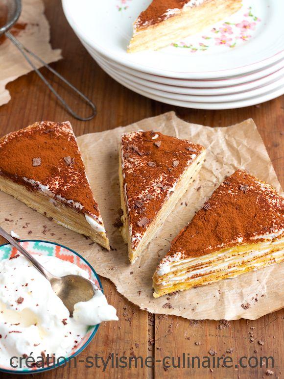 Gâteau de crêpes sans gluten façon tiramisu