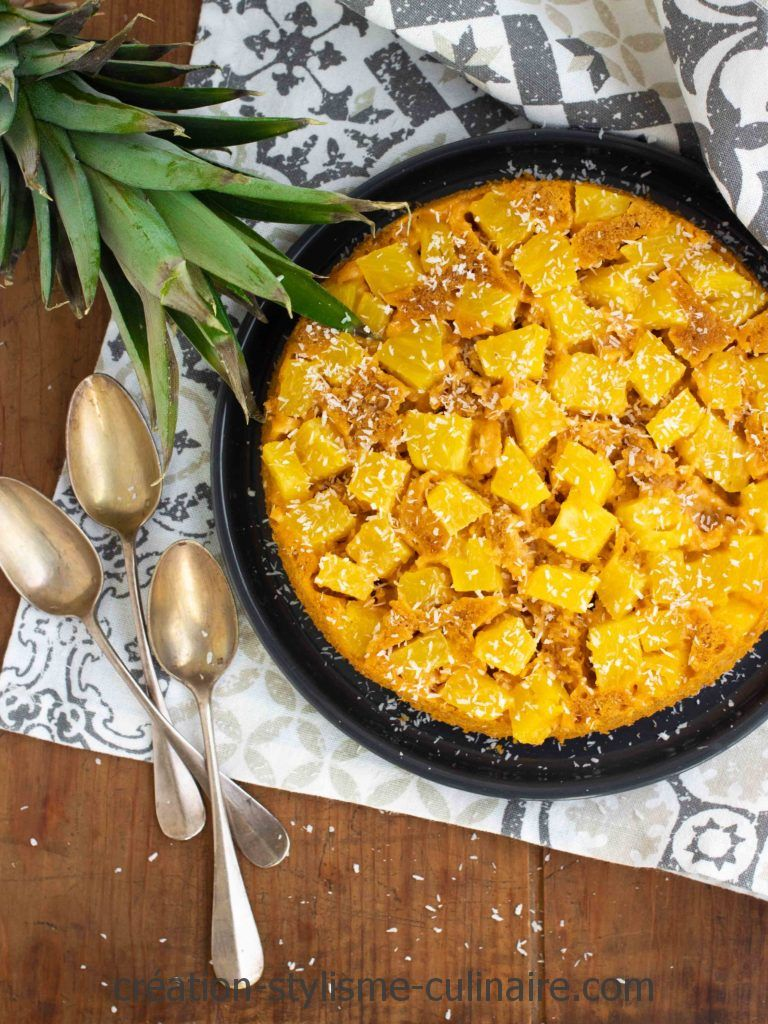 gateau à la patate douce coco ananas