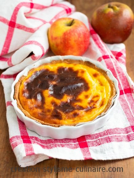 Flan patissier sans gluten aux pommes